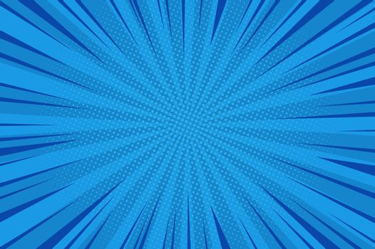 Comic abstract blue background