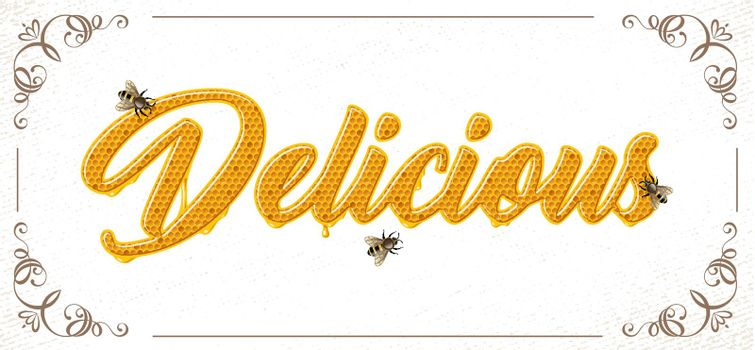 lettering with honeycomb patten