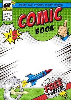 Bright comic book cover concept