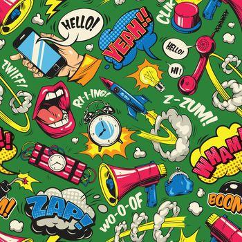 Pop art colorful seamless pattern