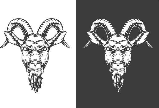 Monochrome goat icon