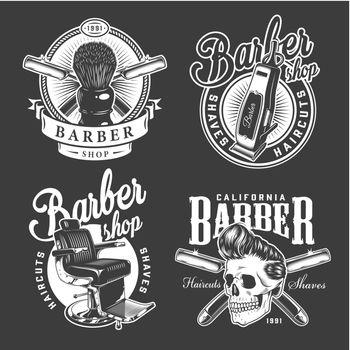 Vintage barbershop logos