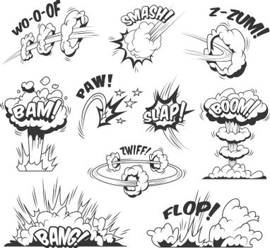 Comic bursts and explosions collection