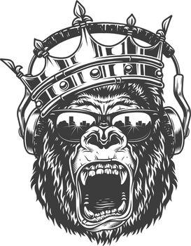 King gorila face