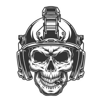Vintage military monochrome concept