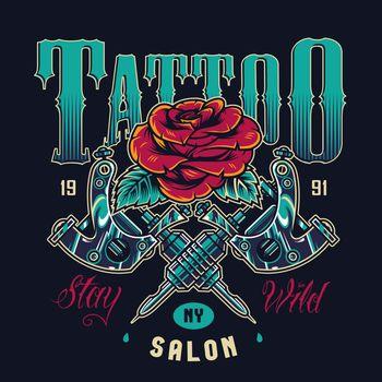 Vintage tattoo salon logotype