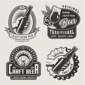 Vintage craft beer prints