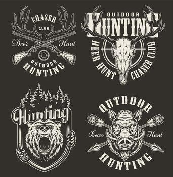 Vintage hunting prints