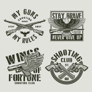 Vintage military labels