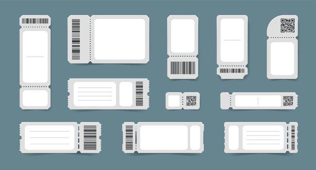 Barcode Tickets Mockup Set