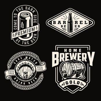 Vintage brewery emblems
