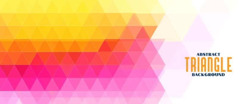colorful triangle geometric pattern banner
