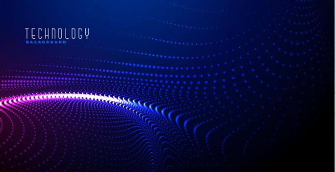 glowing digital particles background design