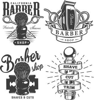 Vintage barbershop prints