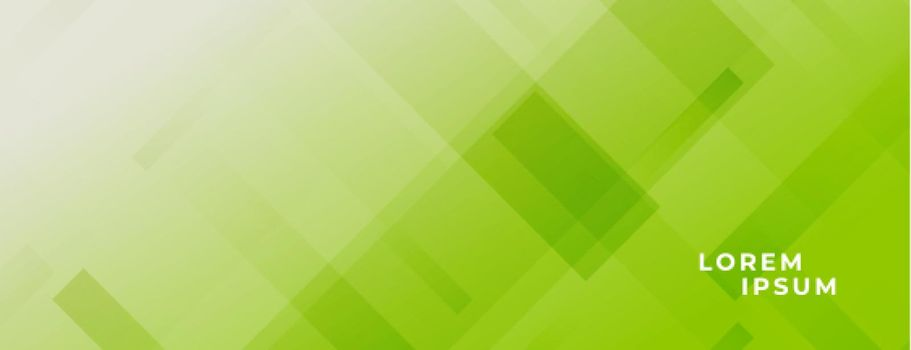 abstract green wide baner with lines effect