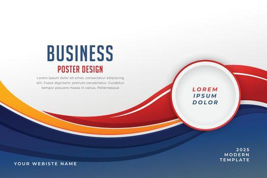 stylish business presentation wavy template design
