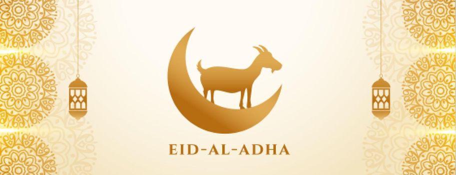 eid al adha golden elegant banner design