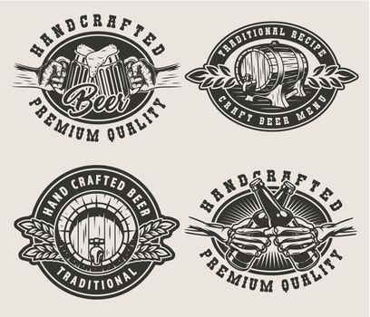Vintage brewing emblems