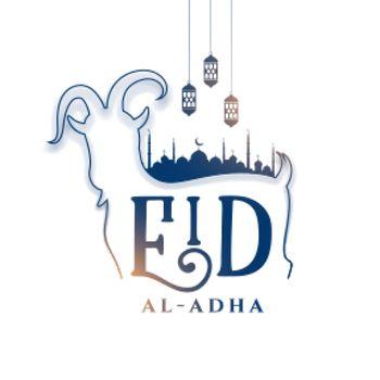 elegant eid al adha festival card design