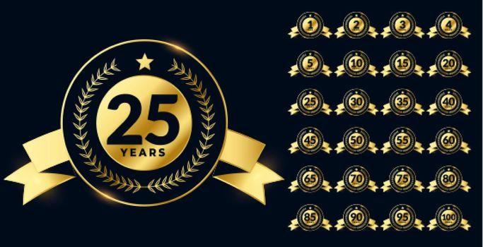 golden anniversary labels big set