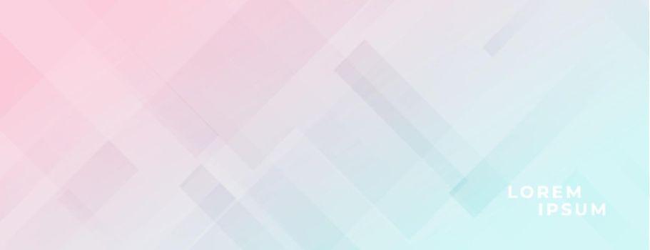 pastel colors elegant light banner design