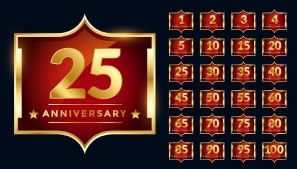 royal label design for anniversary