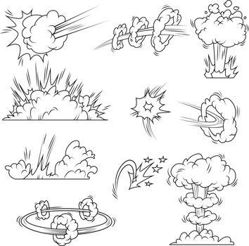 Set of explosion bubbles
