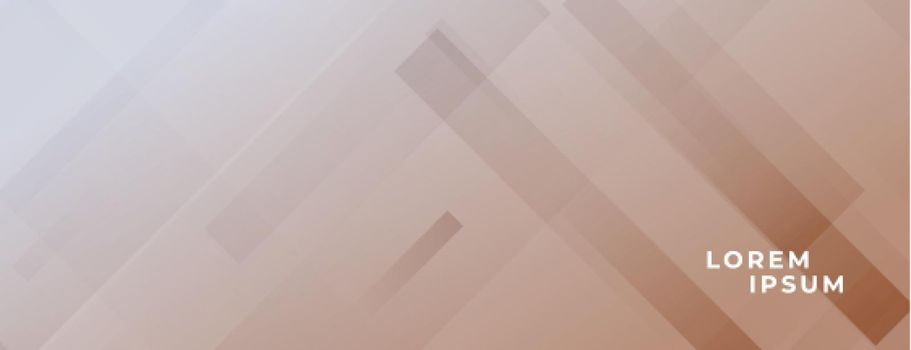 abstract brown banner with lines effect