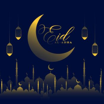 eid al adha bakrid shiny festival greeting