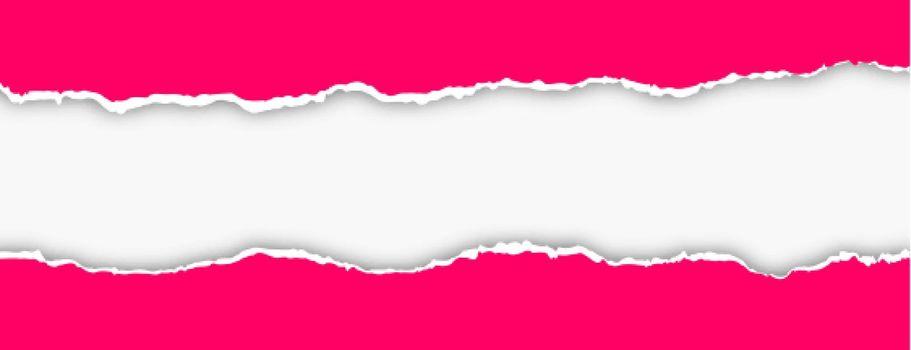 pink torn paper effect banner design