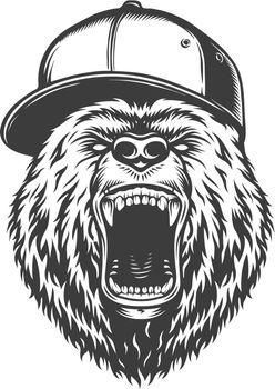 Vintage logo style bear