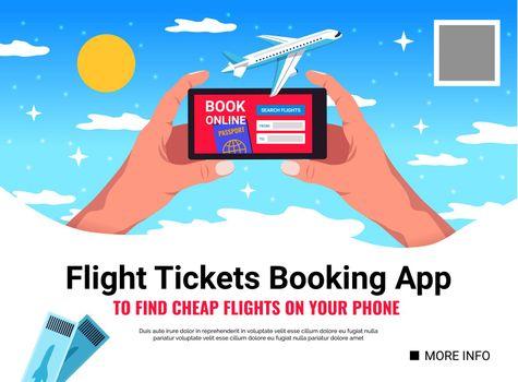 Flight Tickets Booking Background