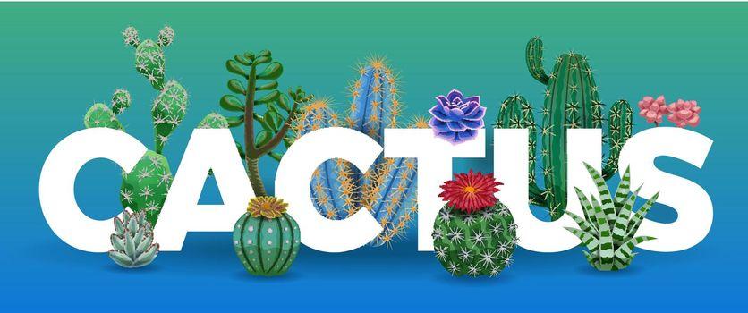 Cactus Big Letters Composition
