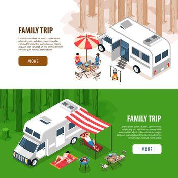 Family Trip Horizontal Banners