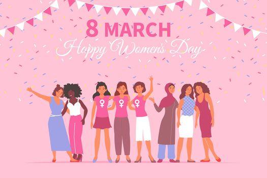 Flat Womens Day Card