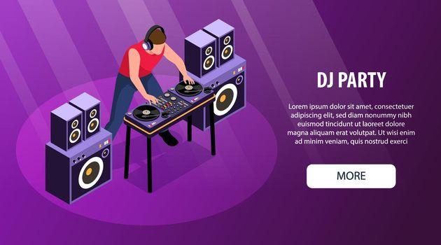 Party DJ Horizontal Banner