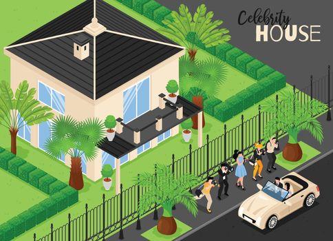 Celebrity House Isometric Background