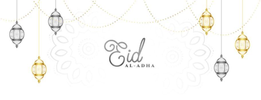 eid al adha mubarak festival banner