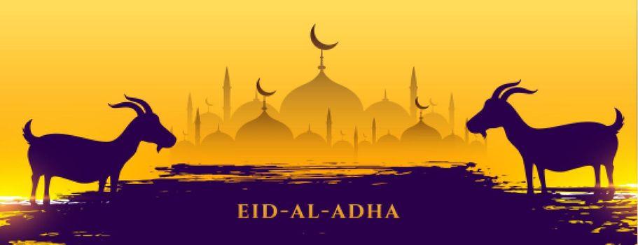 eid al adha muslim festival banner design