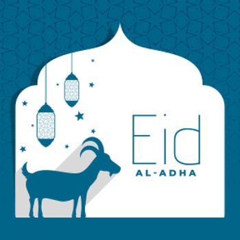flat eid al adha bakrid festival background