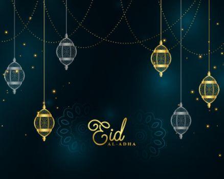 eid al adha islamic golden premium background