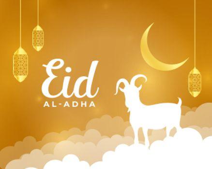 nice eid al adha holiday greeting design