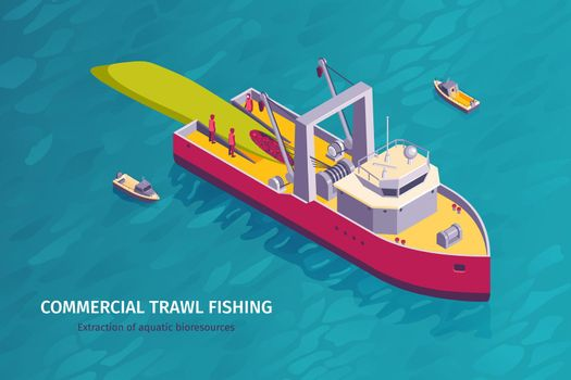 Commercial Fishing Horizontal Banner