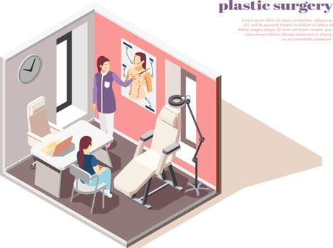 Plastic Surgeon Isometric Composition