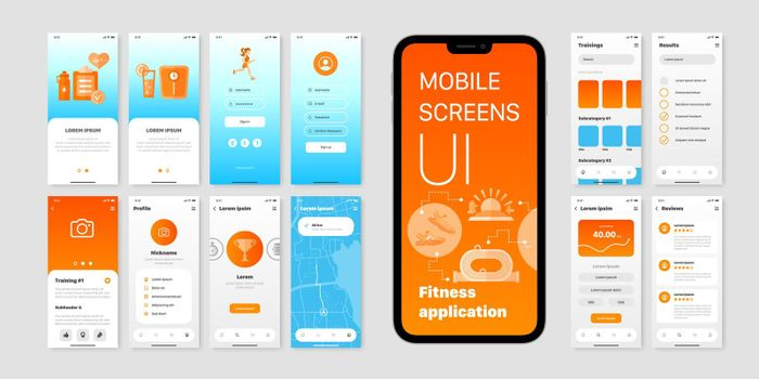 User Interfaces Of Fitness Application