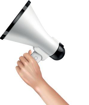 Loudspeaker In Hand Concept