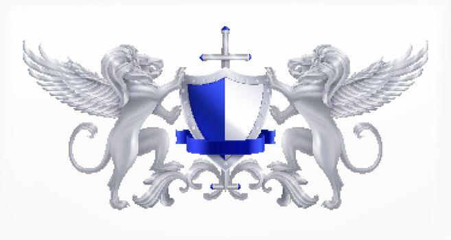 Heraldic Shield Silver Concept