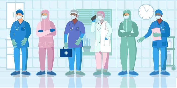 Nurse Protective Uniform Flat