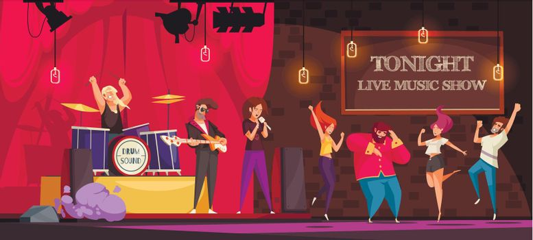 Live Music Show Illustration
