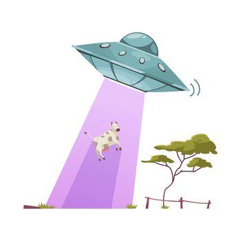 Aliens Abducting Cow